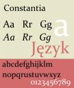 Constantia Schriftprobe