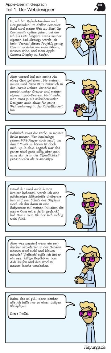 Apple-User im Gespräch