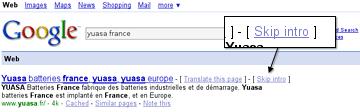 Google lässt uns das Intro überspringen!