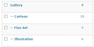 Galerie-Kategorien