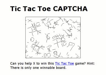 Das Tic-Tac-Toe-CAPTCHA