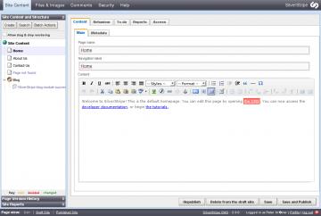 Das Admin-Interface von Silverstripe