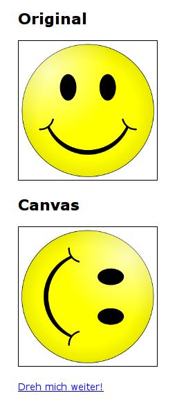 Ein Bild mit Canvas drehen
