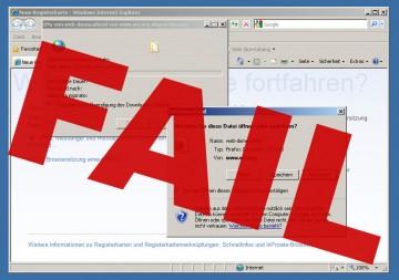 Der Internet Explorer 8 und die W3C-Webtechdemo