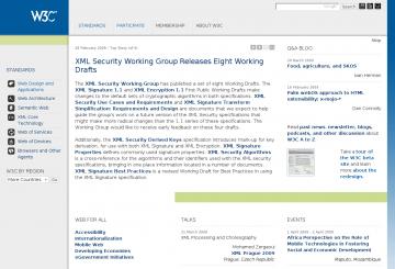 Das neue Design des W3C