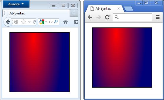 Zweimal das optisch gleiche Ergebnis, aber mit anderen Syntaxen
