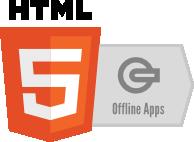 Logo für HTML5 Offline-Technologien