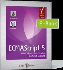 Cover von ECMAScript 5 - Entwickeln mit dem aktuellen JavaScript-Standard